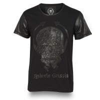 T-SHIRT LEATHER SKULL